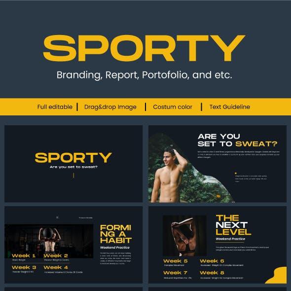 Sporty Google Slide