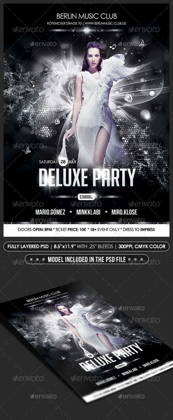 Deluxe Party Poster/Flyer - Clubs & Parties Events