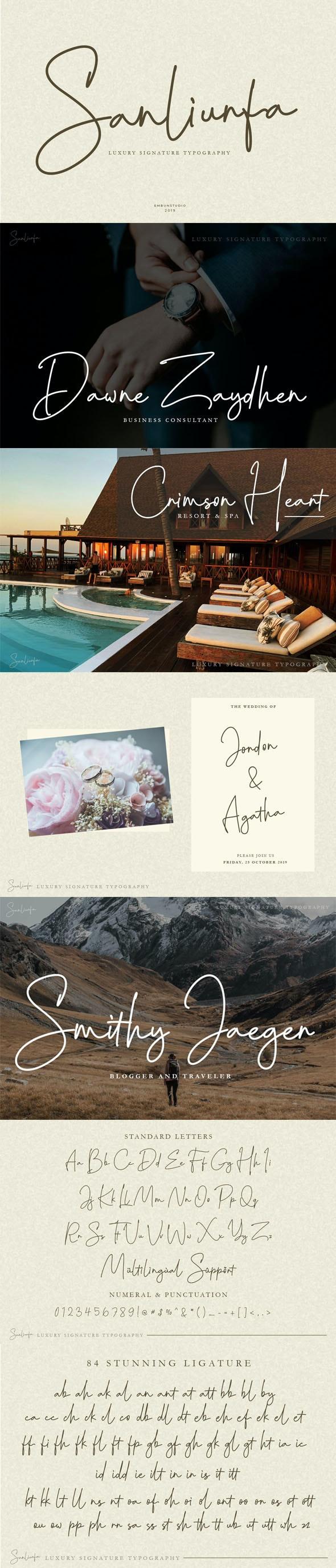 Sanliurfa Luxury Signature - Script Fonts