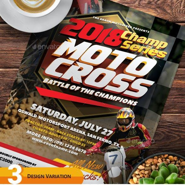 Motocross Flyer Templates