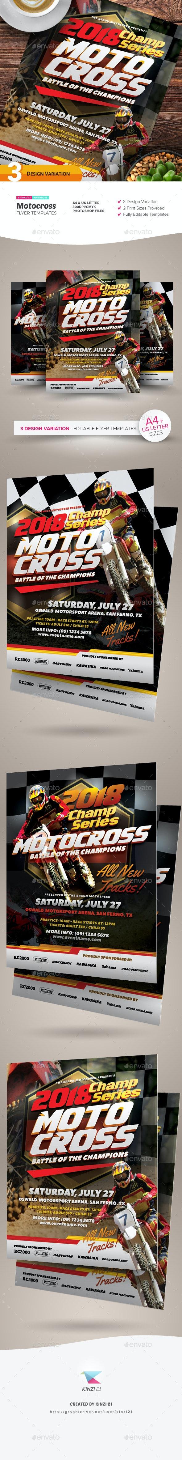 Motocross Flyer Templates - Sports Events