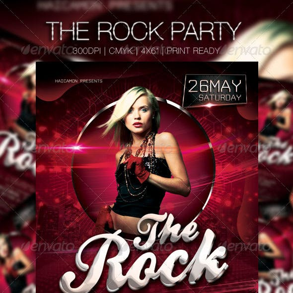 The Rock Party Flyer
