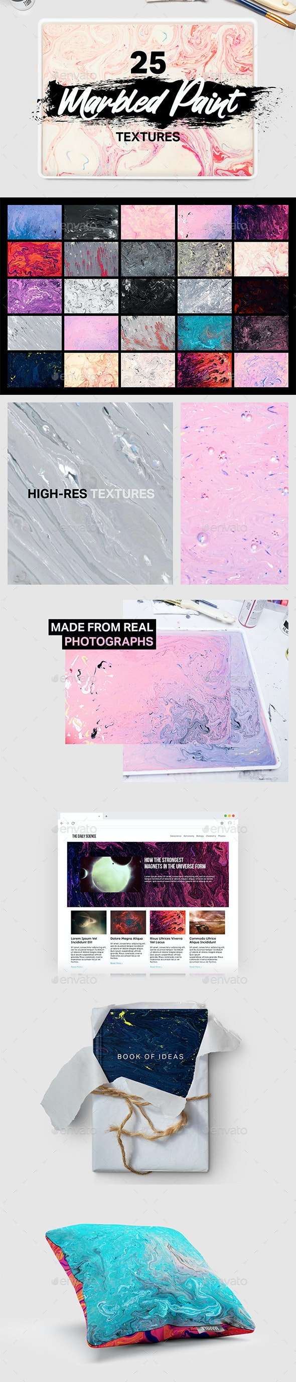25 Real Marbled Paint Textures - Art Textures