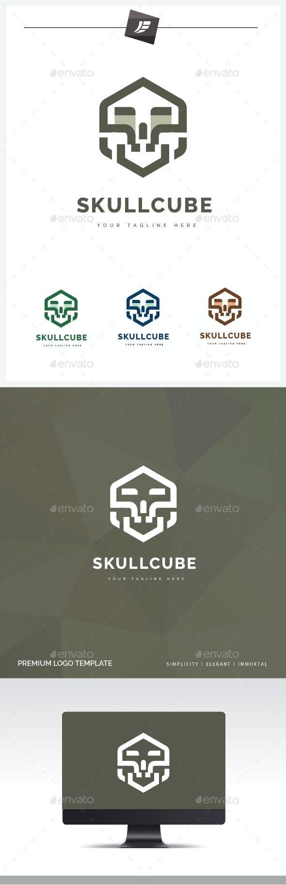 Skull Cube Logo - Humans Logo Templates