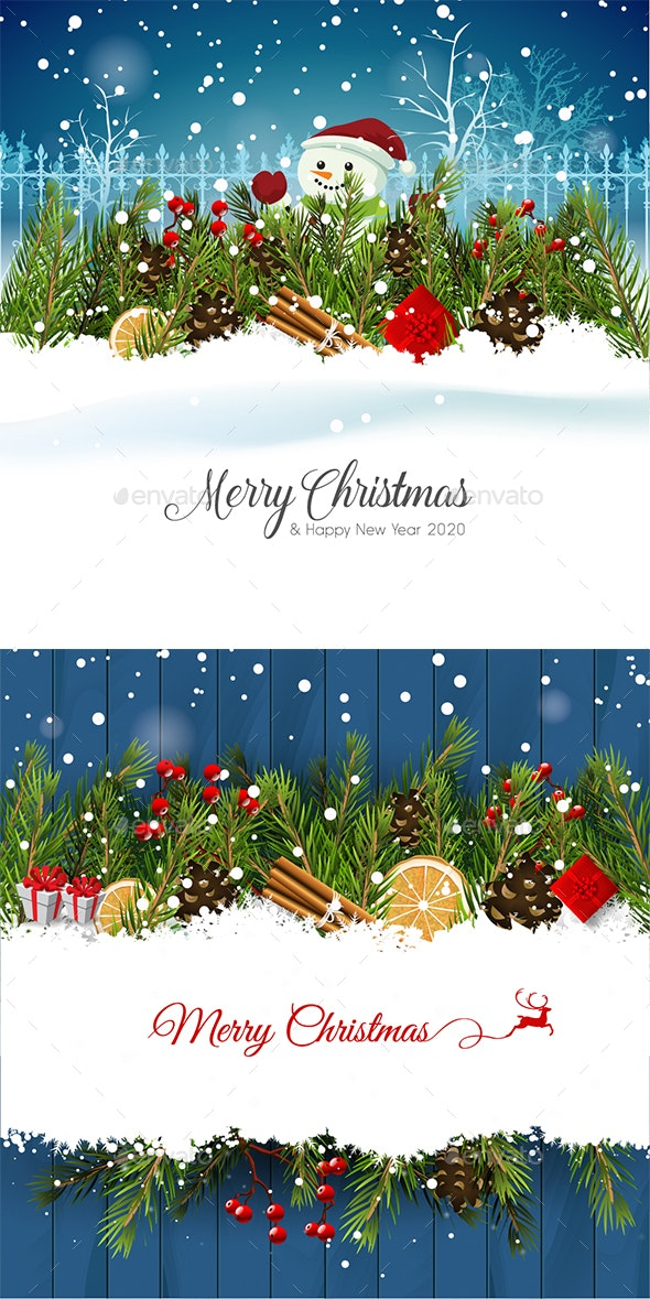 Christmas Cards 2020 2 Christmas Cards by Stephen_sheld | GraphicRiver