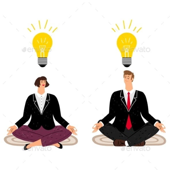 Meditation Concept with Business People