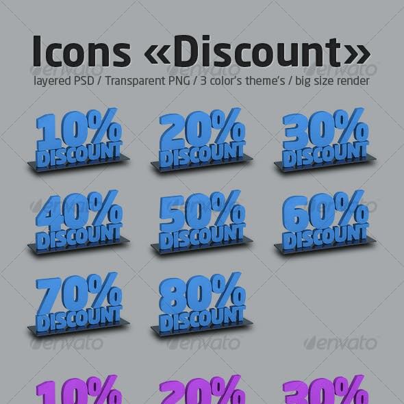Icons set «Discount»