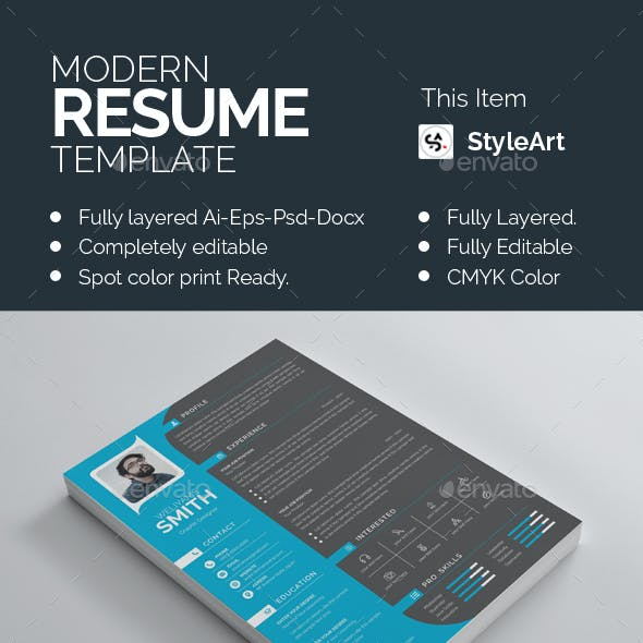 Resume Mac Pages Graphics, Designs & Templates from GraphicRiver