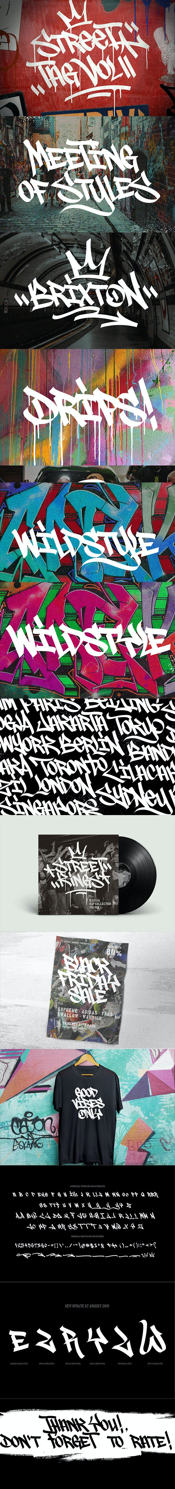 Graffiti Fonts | Street Tag Vol2 - Graffiti Fonts