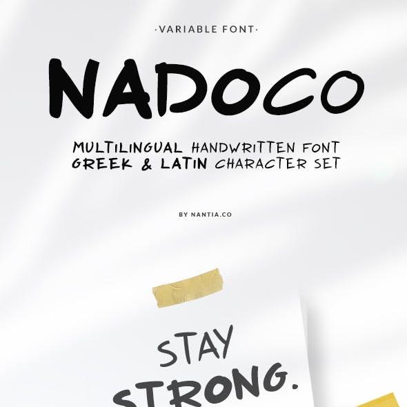 Nadoco Variable Font
