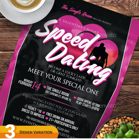 Speed Dating Flyer Templates
