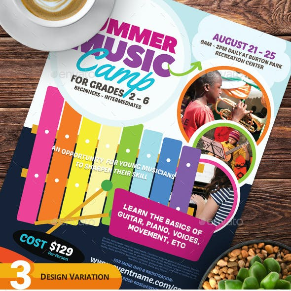 Summer Music Camp Flyer Templates