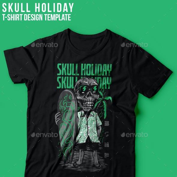 Skull Holiday T-Shirt Design