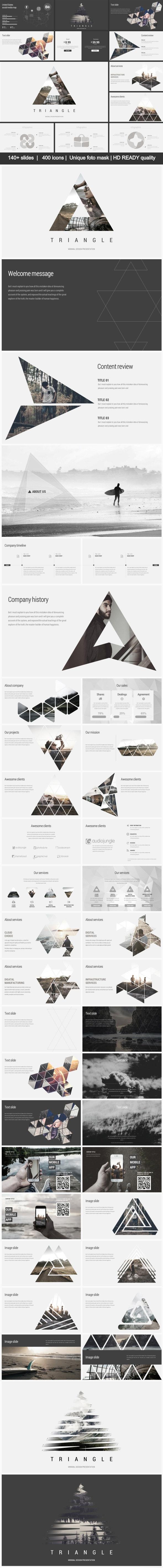 Triangle Minimal - Business Keynote Templates