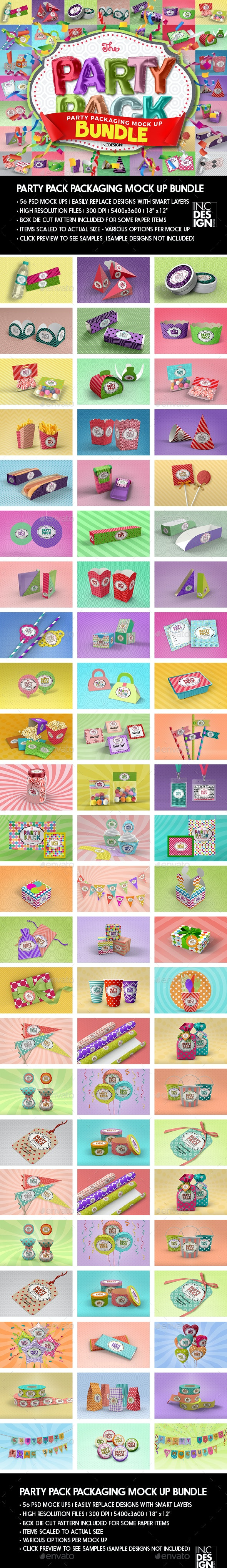 The Party Pack Packaging Mock up Bundle - Packaging Product Mock-Ups