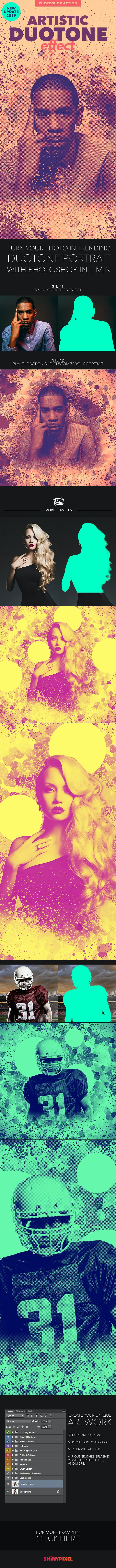 Artistic Duotone Effect - Photoshop Action - Photo Effects Actions