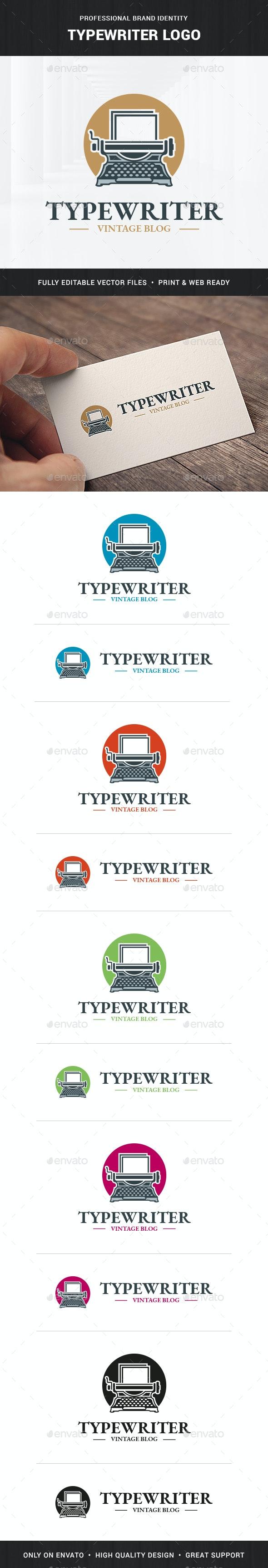 Typewriter Logo Template - Objects Logo Templates