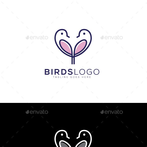 Heart Bird Logo