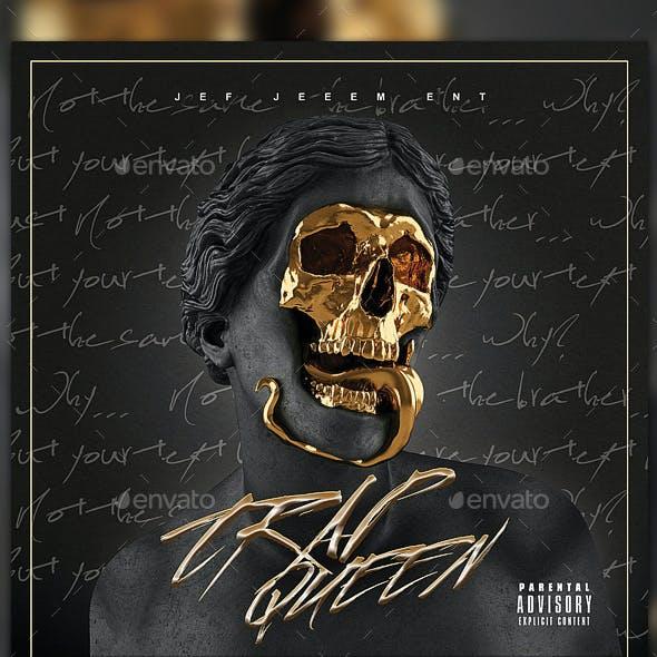 Trap CD Mixtape Rap Album Cover Template