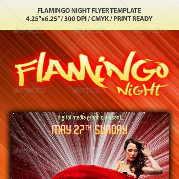 Filamingo Night Flyer Template