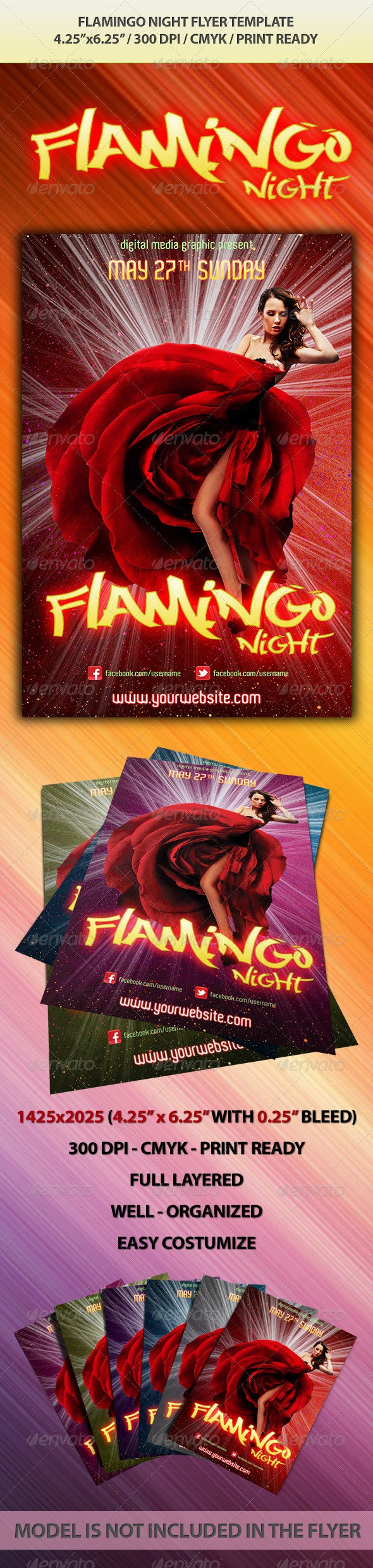 Filamingo Night Flyer Template - Clubs & Parties Events