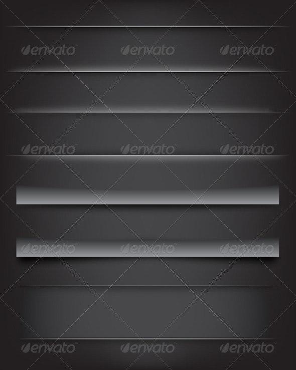 Shadows and Dividers - Web Elements Vectors