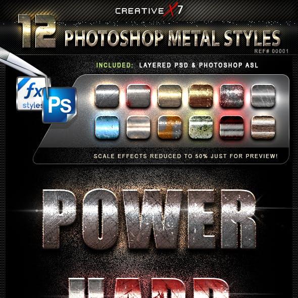 CreativeX7 - 12 Photoshop Metal Styles