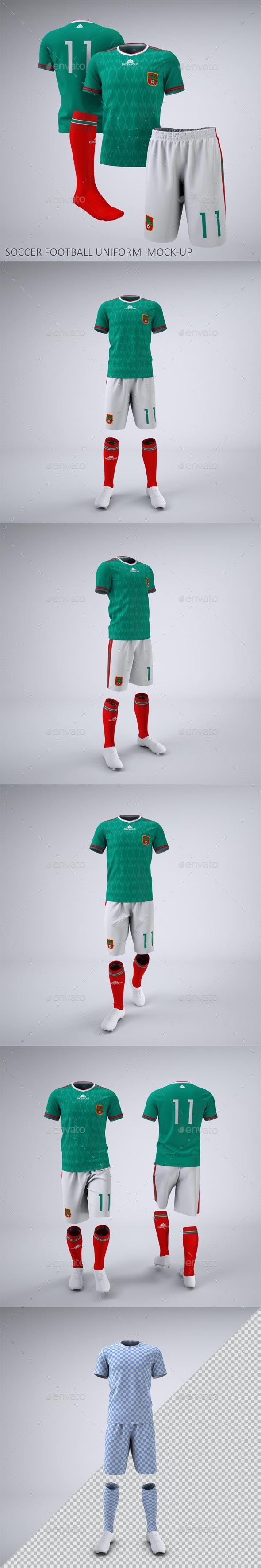 Soccer Football Team Uniform Mock-Up - Miscellaneous Apparel