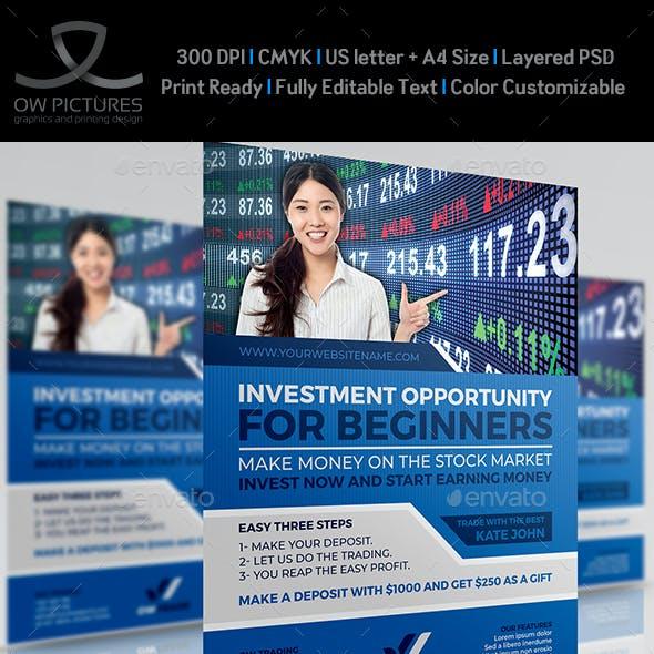 Stock Market Trading Flyer Template