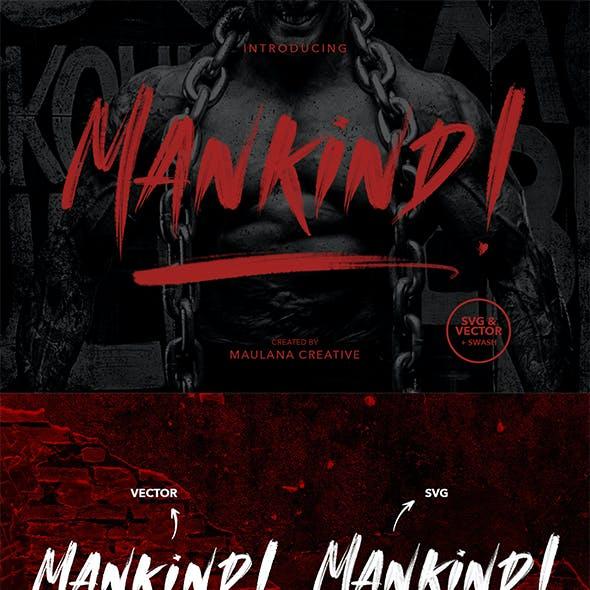 MANKIND - SVG Brush Font