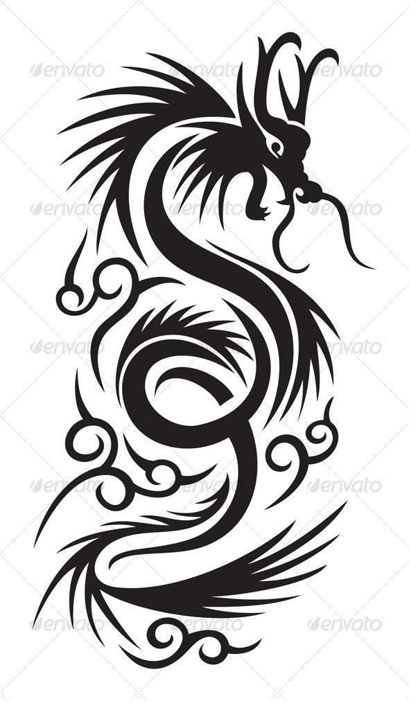 Tribal dragon - Animals Characters