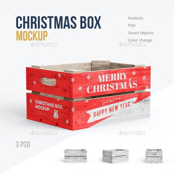 Christmas Box Mockup 3 PSD