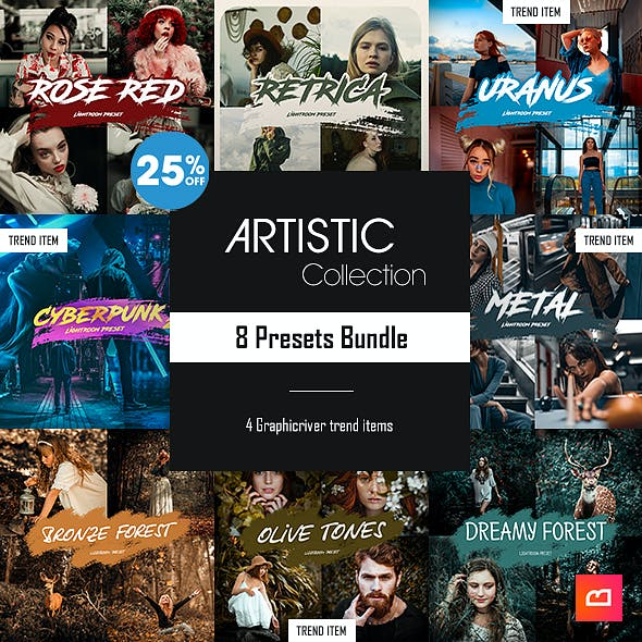 Artistic Collection - 8 Lightroom Presets Bundle