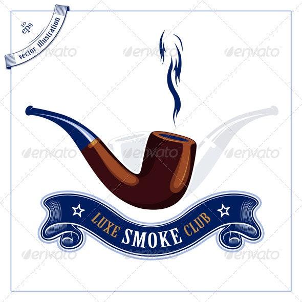 Smoke Wood Tube Emblem - Man-made Objects Objects