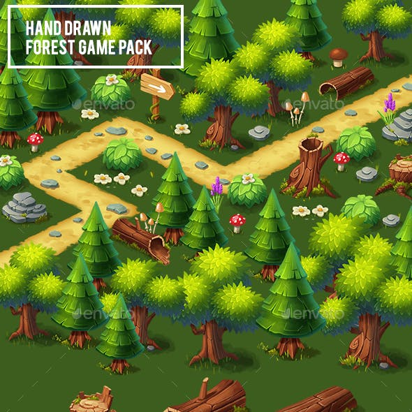 Hand Drawn Forest Game Pack