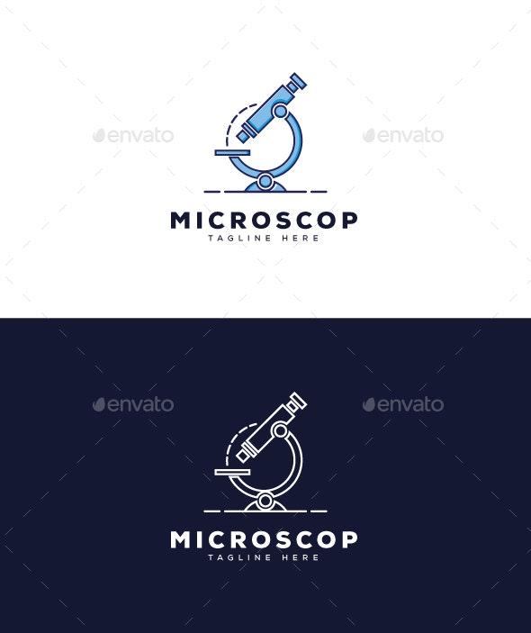 Microscope Logo - Objects Logo Templates