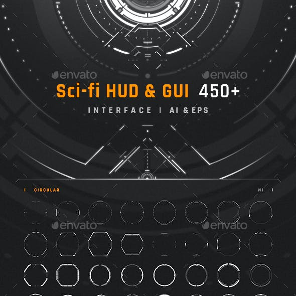Sci-fi HUD & GUI Interface