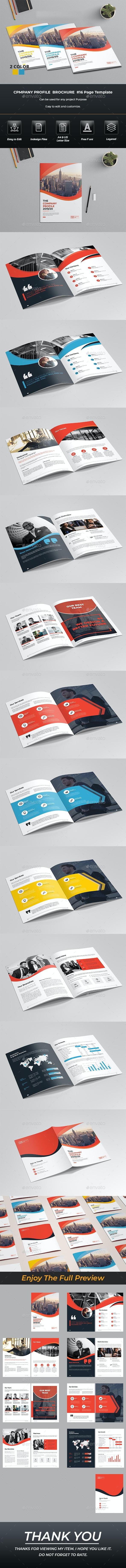 Business Profile Brochure Indesign Template - Brochures Print Templates