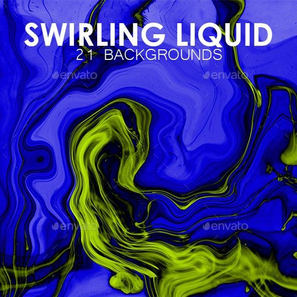 Swirling Liquid Background Set