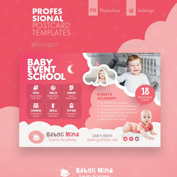 Baby Event Postcard Templates
