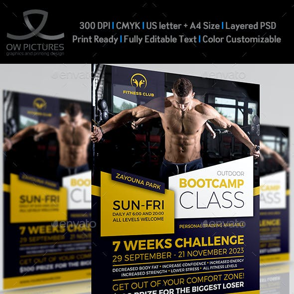 Bootcamp - Fitness Flyer Template