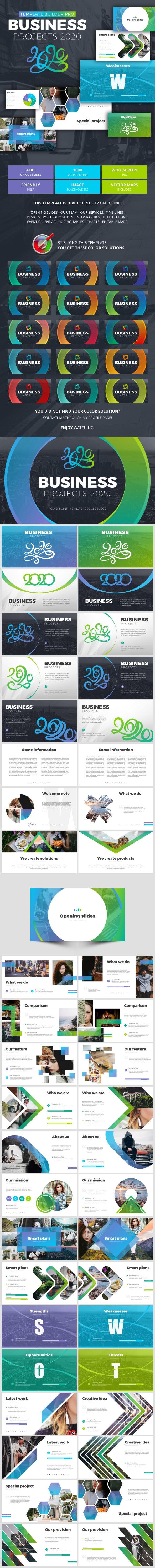 Business Projects 2020 - Google Slides Presentation Templates