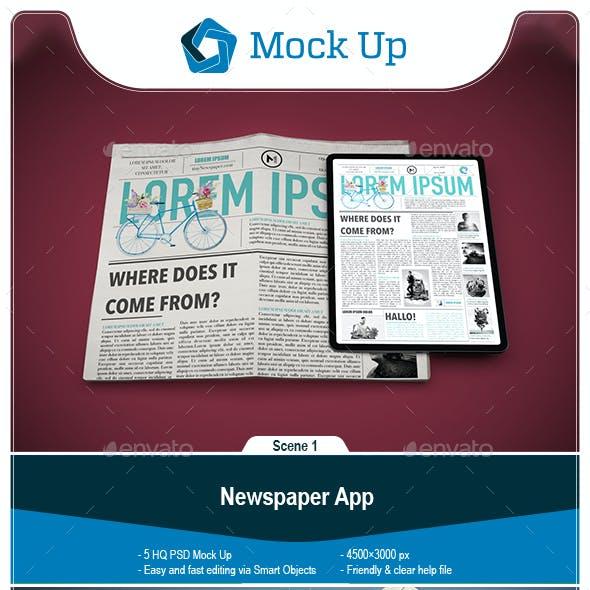 Newspaper App MockUp