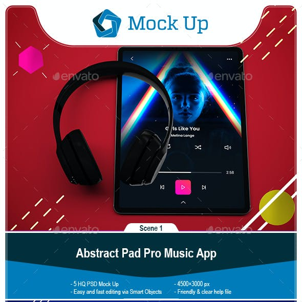 Abstract Tablet Pro Music App