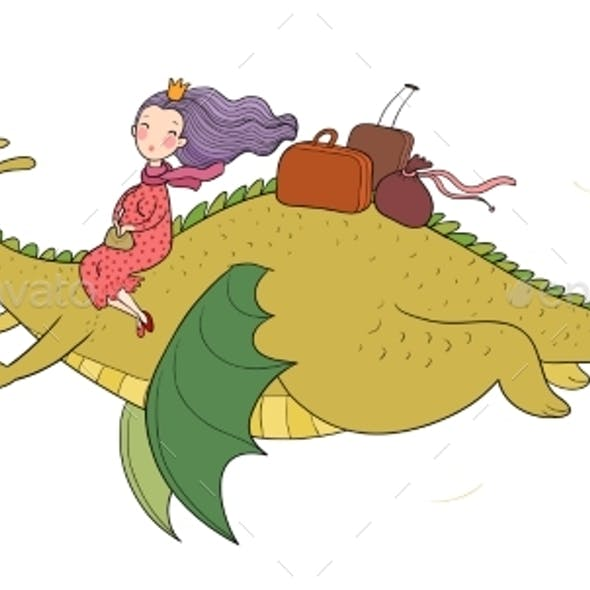 The Princess is Flying on a Dragon