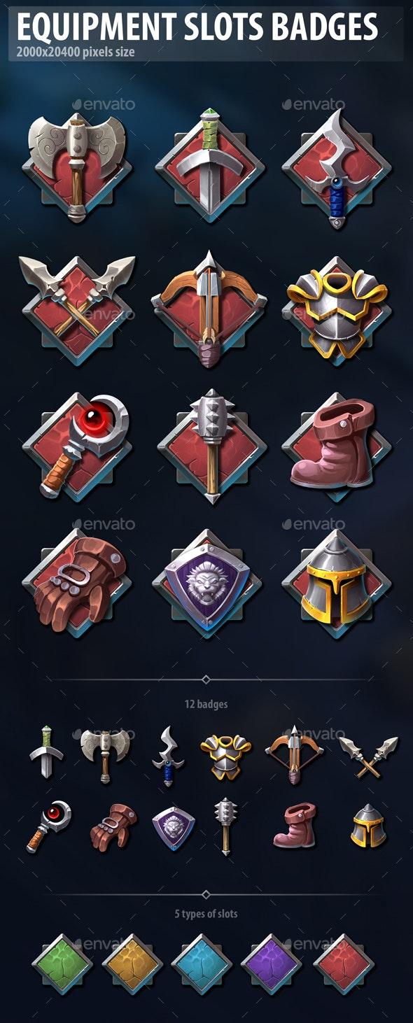 Equipment Slots Badges - Miscellaneous Game Assets