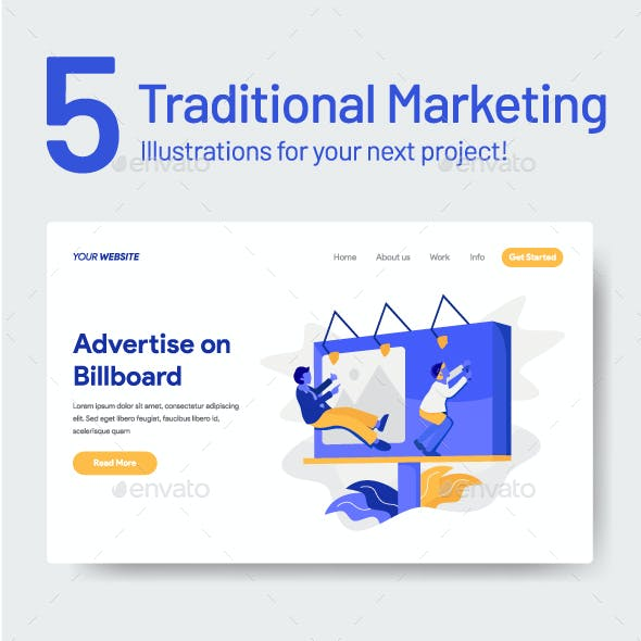 5 Traditional Marketing Illustrations