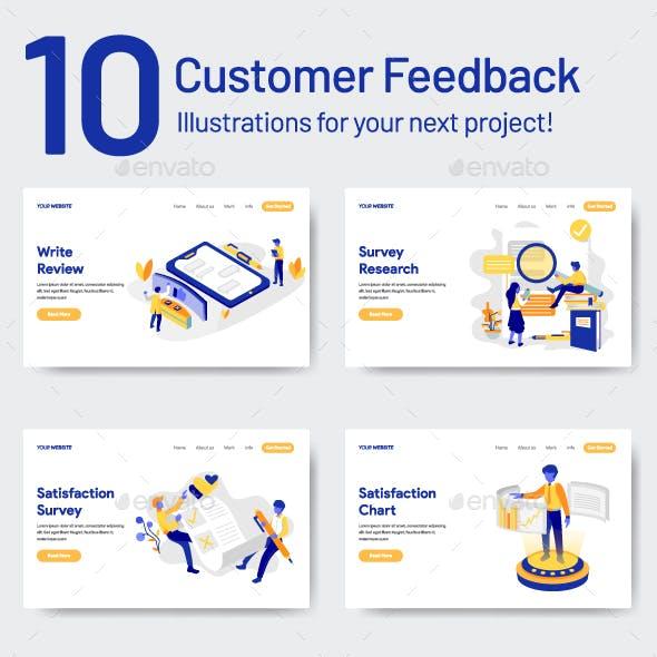 10 Customer Feedback Illustrations