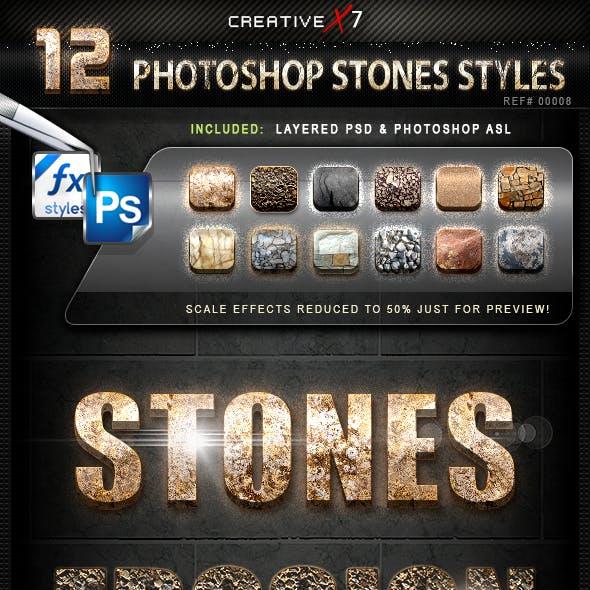 CreativeX7 - 12 Photoshop Stones Styles