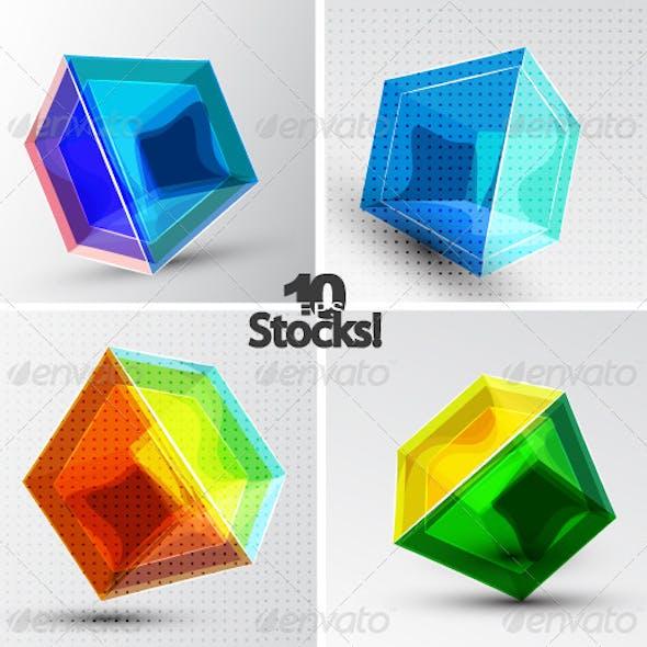 Vector 3d Cube Backgrounds